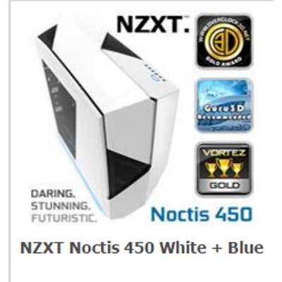 NEW NZXT Noctis 450 Mid Tower Case. Next Generation 5.25-less Design. PWM Fan Hu
