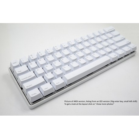 Poker 3 - PBT -  ISO-Nordic - [Alu Casing]  White version