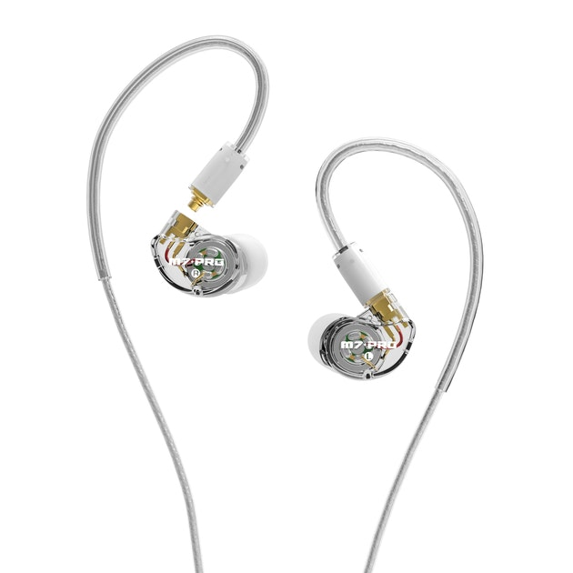 MEE audio M7 PRO Universal-Fit Hybrid Dual-Driver Musician's In-Ear Monitors wit