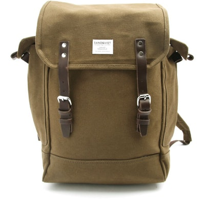 Sandqvist Bob Khaki Rucksack in Khaki for Men | Lyst