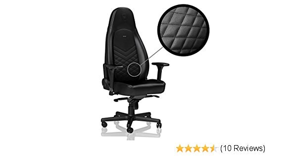noblechairs ICON - Black - Gaming Chair/Office Chair/Desk Chair: Com