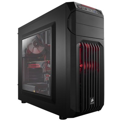 Carbide Series® SPEC-01 Red LED Mid-Tower Gaming Case