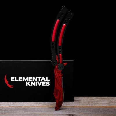 Real Slaughter Butterfly - Elemental Knives  (Sharp or Blunt/Dull)
