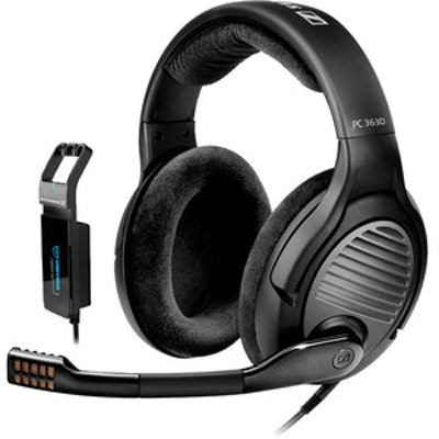 Sennheiser PC 363D - Surround Sound PC Gaming Headset - Noise Cancelling Microph