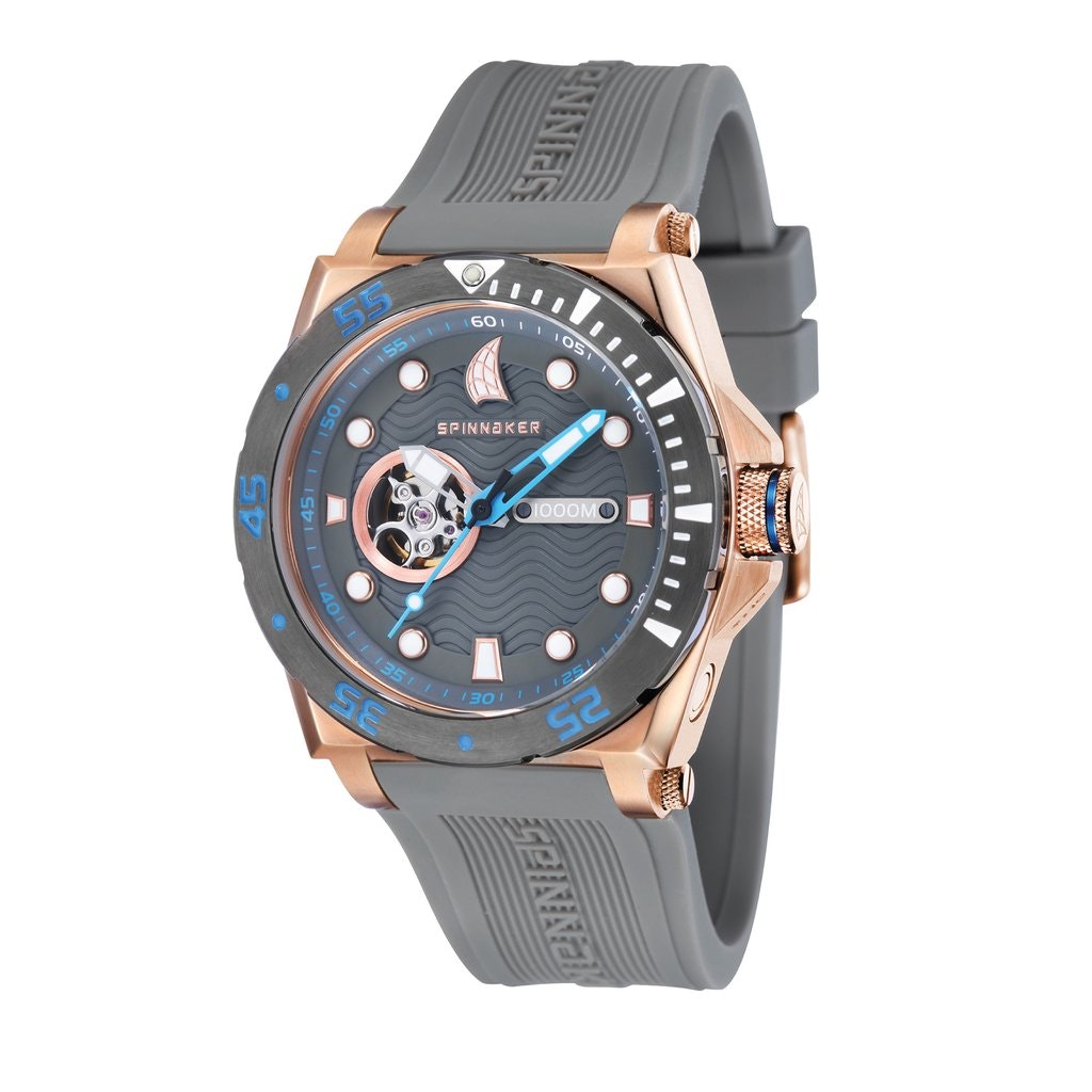 SPINNAKER OVERBOARD SP-5023-0B AUTOMATIC MEN'S DIVER WATCH | Spinnaker Watches