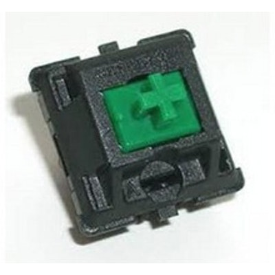 Cherry MX Green Keyswitch - Plate Mount - Tactile Click - 110 Pack by Cherry