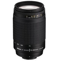 Nikon AF Zoom-Nikkor 70-300mm f4-5.6G BLACK Telephoto Zoom Lens