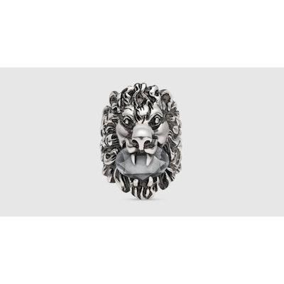 Löwenkopf-Ring mit Kristall - Gucci Ringen 402763J3F428032Herunterladen