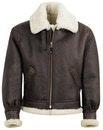 Schott NYC Classic B-3 Sheepskin Leather Bomber Jacket