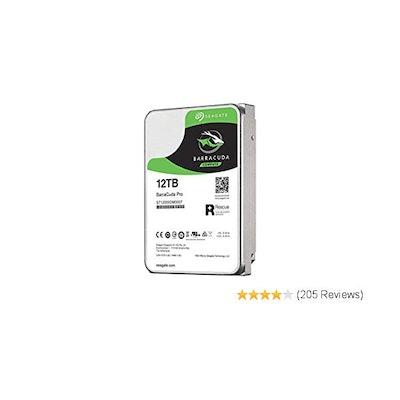 Seagate 12TB BarraCuda Pro 7200RPM SATA 6GB/s 256MB Cache 3.5-Inch Internal Hard