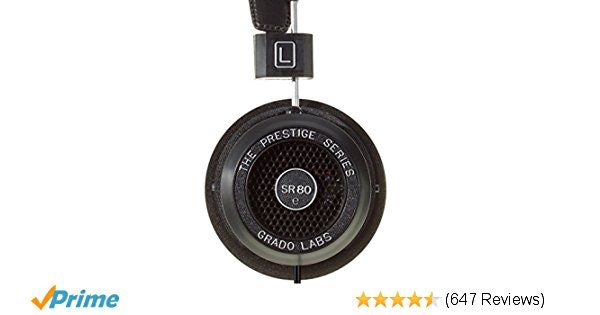 Amazon.com: Grado SR80e Prestige Series Headphones: Electronics