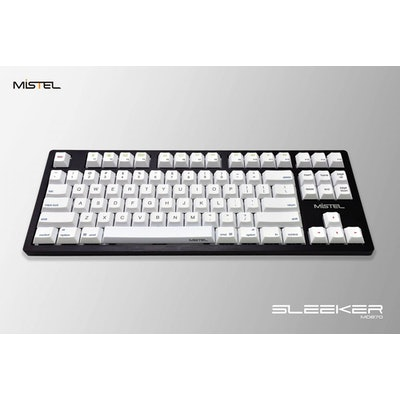Mistel Sleeker Black Case Mechanical Keyboard (Blue Cherry MX)
