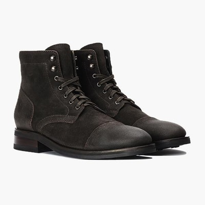 Men's Dark Olive Suede Captain Boot - Thursday Boot Company