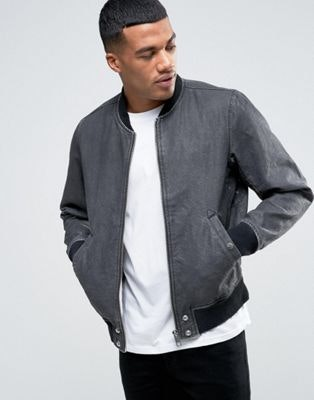 Diesel | Diesel J-HOLZ Acid Wash Denim Bomber