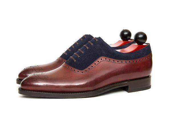 Roosevelt - Burgundy Calf / Dark Blue Suede – J.FitzPatrick Footwear