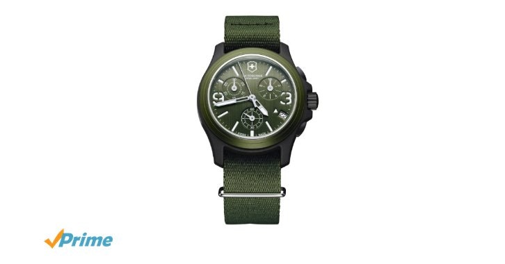 Amazon.com: Victorinox Swiss Army Men's 241531 Original Chronograph Green Nylon