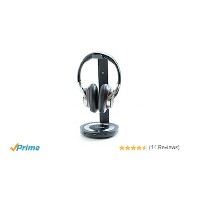 ZBRANDS // Premium Headphone Charging Stand Holder with Three USB 3.