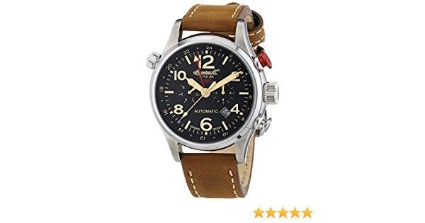 Ingersoll - IN3218BK - Montre Homme - Automatique - Chronographe - Bracelet Cuir