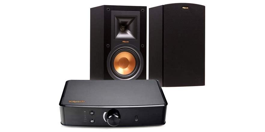 Klipsch Bookshelf Speakers and Powergate Amplifier