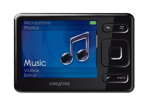 shop creative zen mx 8 gb video mp 3 player black discover rh massdrop com Creative Zen Vision M Manual Zen Vision M Manual