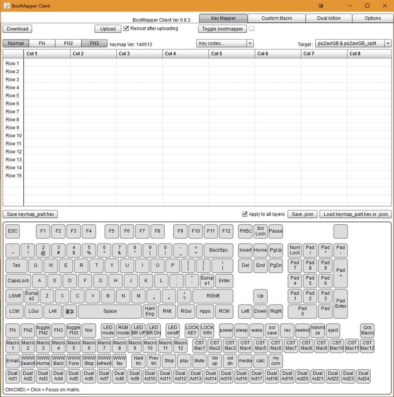 Programming KBD Keyboards via Bootmapper Client (TMK guide