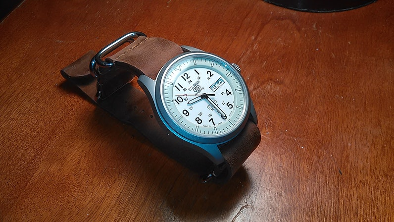 1582acd6be2 My New Crazy Horse Leather NATO Strap