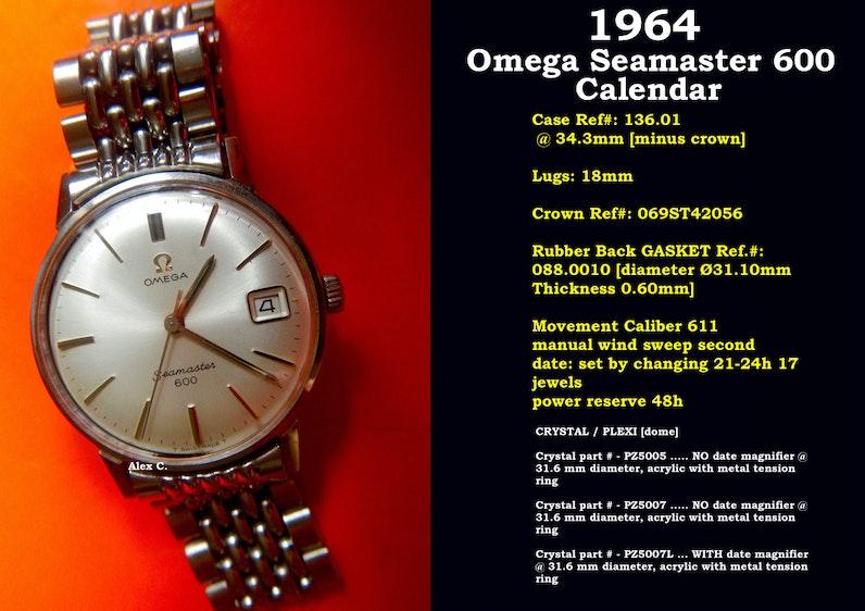 24419fbe2ece 1964 Omega Seamaster 600 Calendar