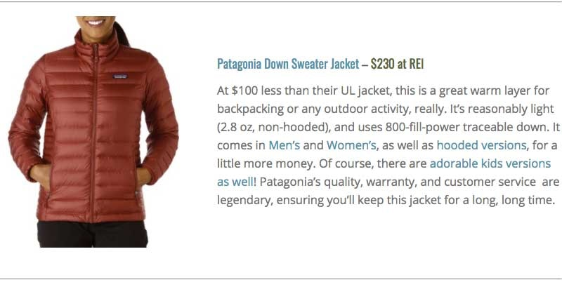 Rei patagonia down with it parka