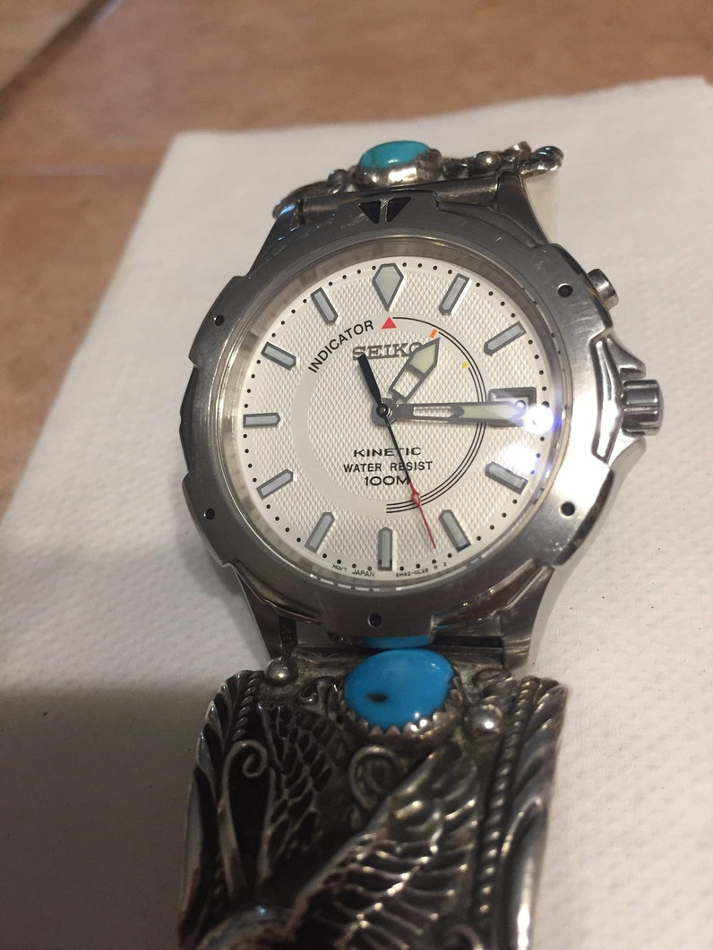 Seiko kinetic mod- brand new watch ran for a few wks, until