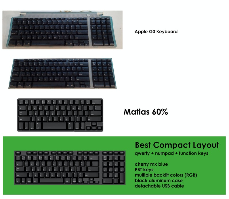 ed8892b5bd6 Compact Mechanical Keyboard with Numpad, Function Keys etc... | Drop ...