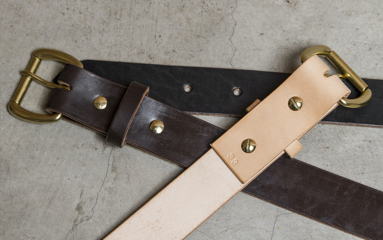 Faler Brand Bridle Leather Belt