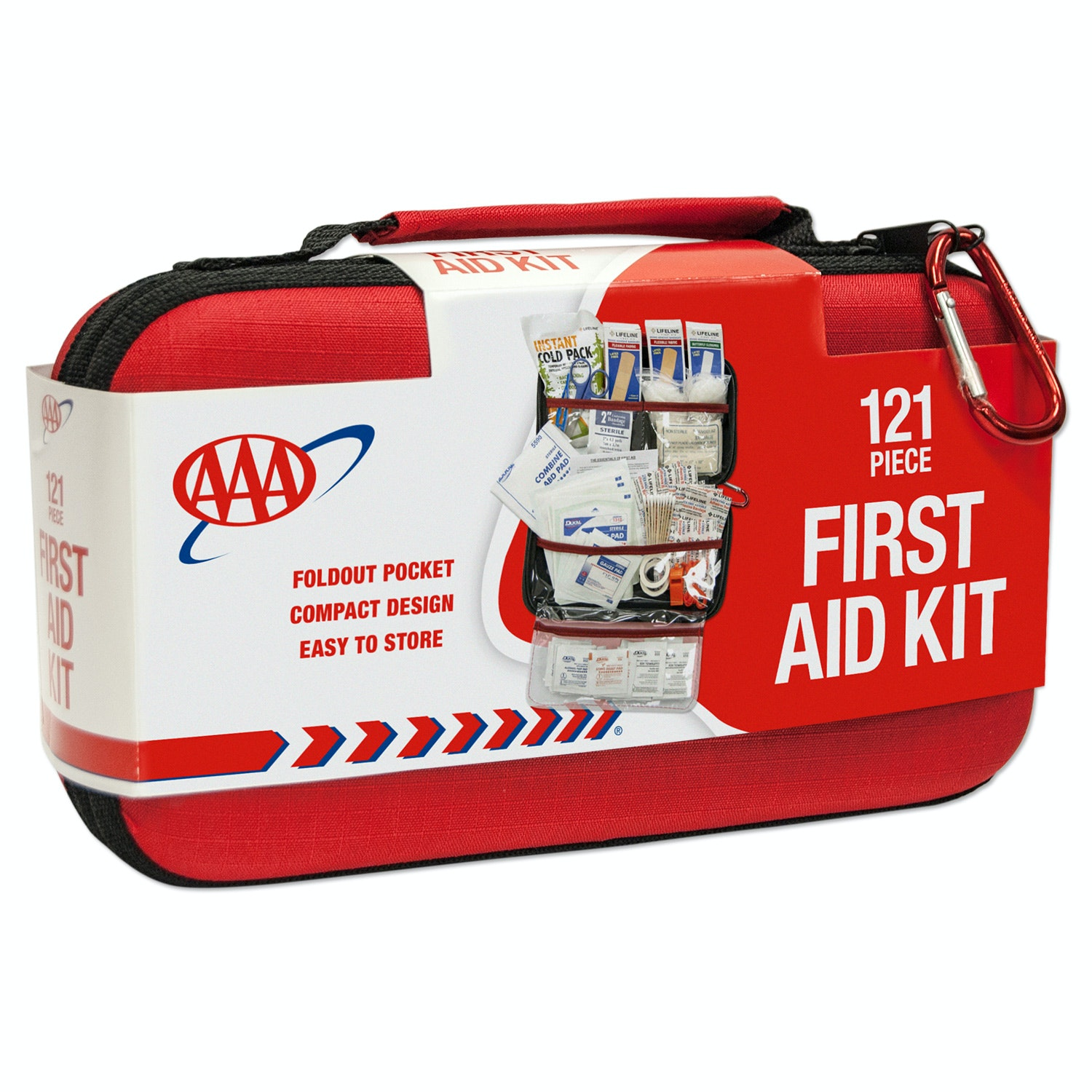 AAA Road Trip First Aid Kit - 121 Pieces