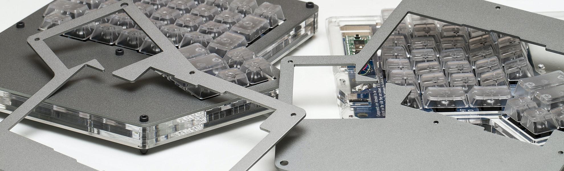 Aluminum ErgoDox Top Plates (Pair)