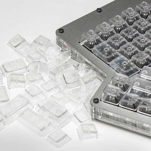 Clear Ergodox DCS Keycaps
