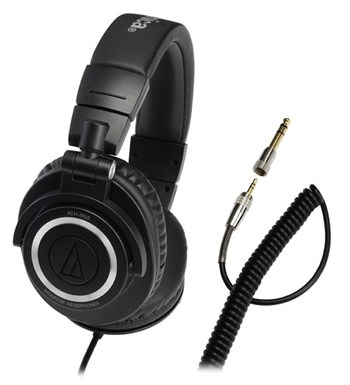 Audio-Technica ATH-M50 with Coiled Cable