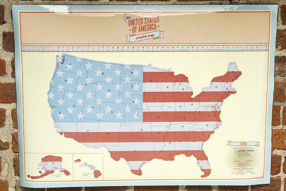 USA Scratch Map | Price & Reviews | Massdrop
