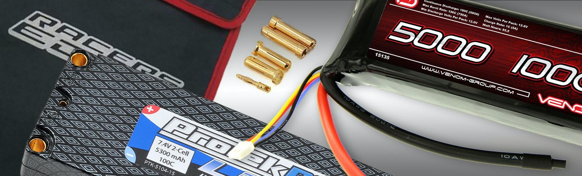 2S 100C Hard Case LiPo Battery Pack w/ LiPo Bag