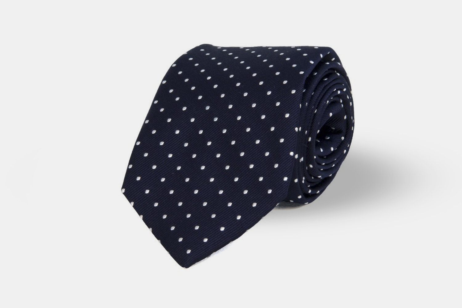 Dotted Woven - Navy/White