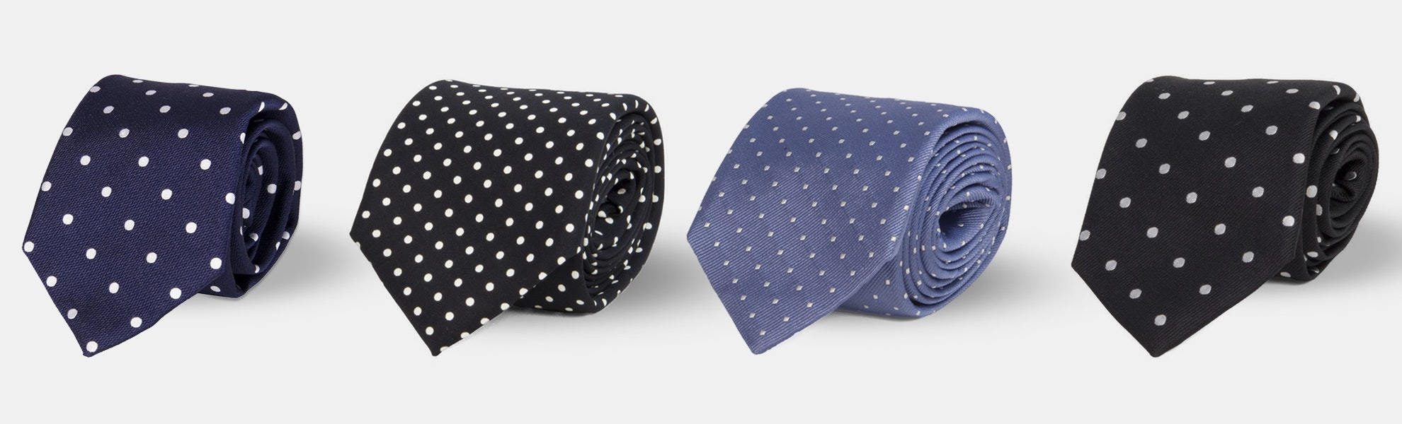 40 Colori Dotted Silk Ties