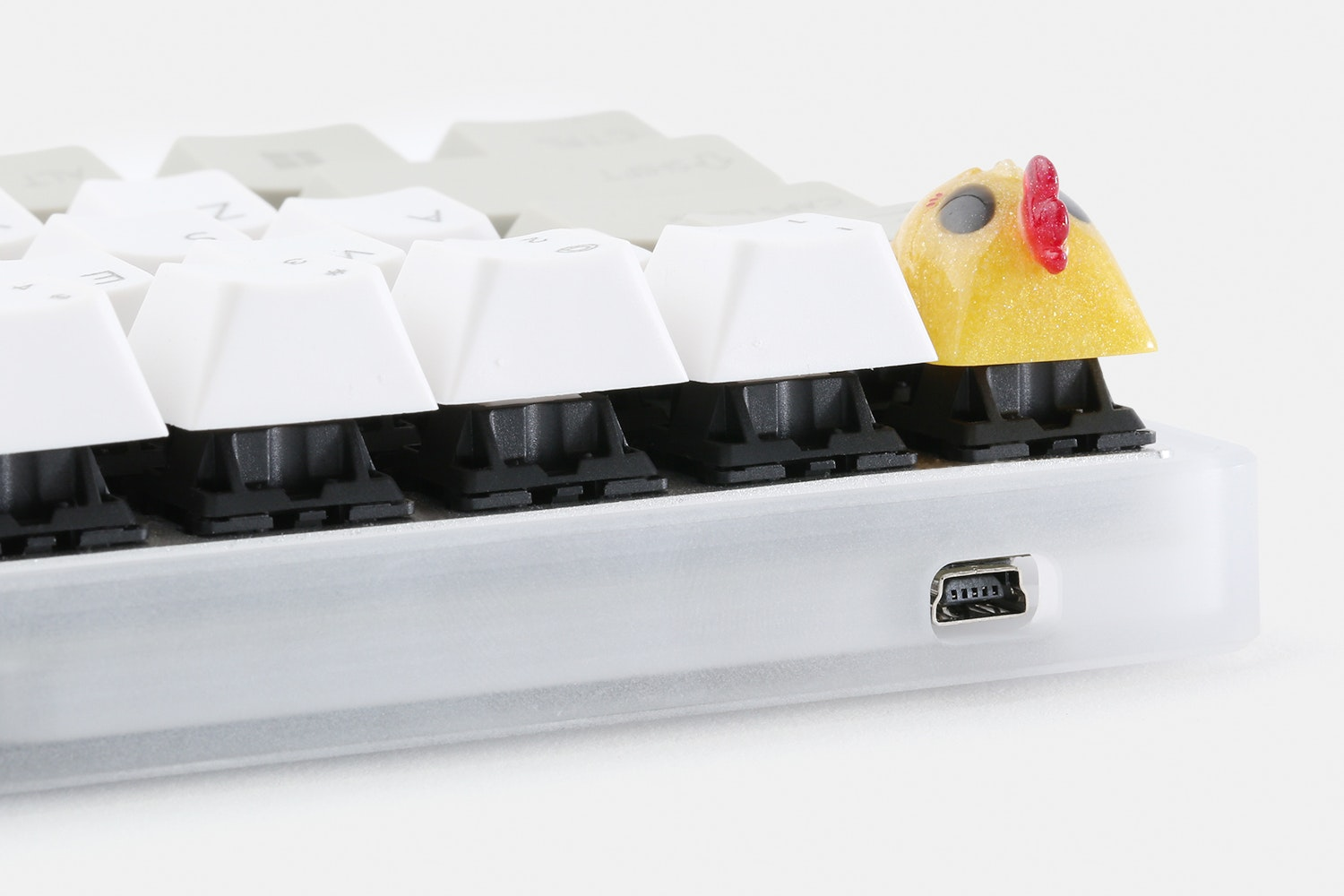 60% Frosted Acrylic Mechanical Keyboard Case