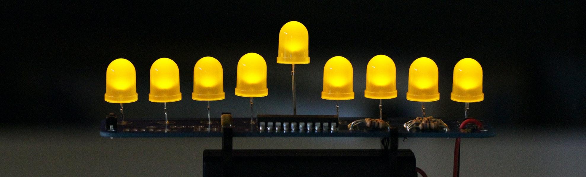 Deluxe LED Menorah Kit