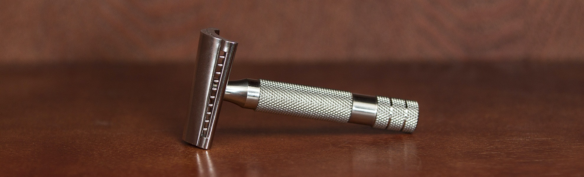 iKon Slant Stainless Steel Double Edge Razor