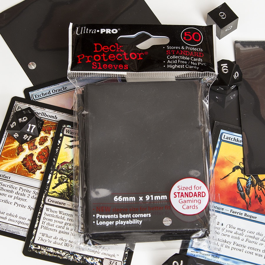 Black Ultra Pro Sleeves Four Pack