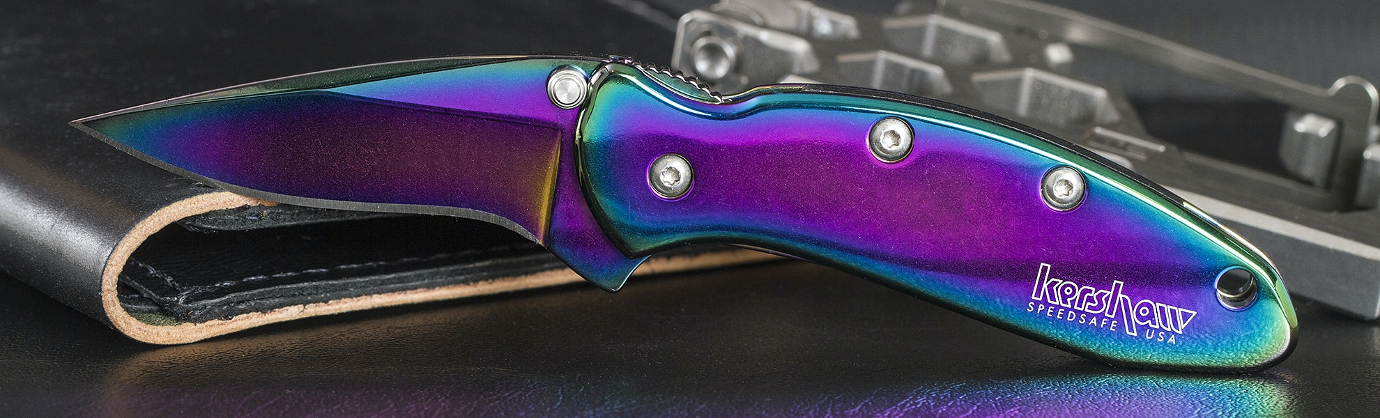 Kershaw Rainbow Chive Pocket Knife