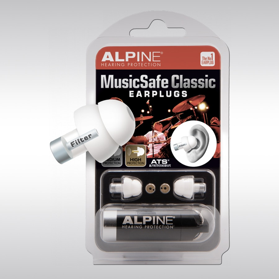 Alpine Hearing Protection MusicSafe Classic Earplugs