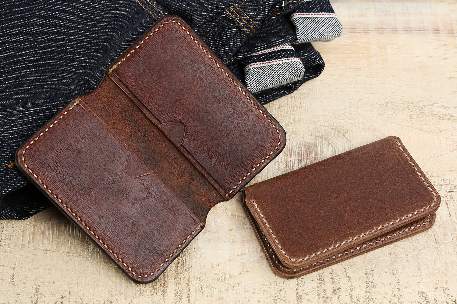 Don't Mourn Organize Horsehide Card Holder