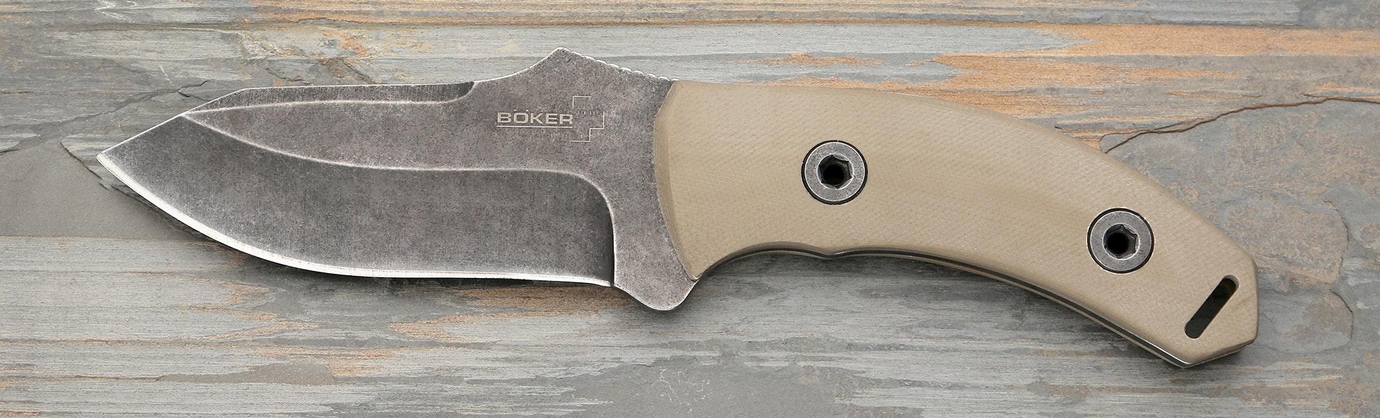 Boker Plus Exodus Fixed Stonewashed Blade Knife