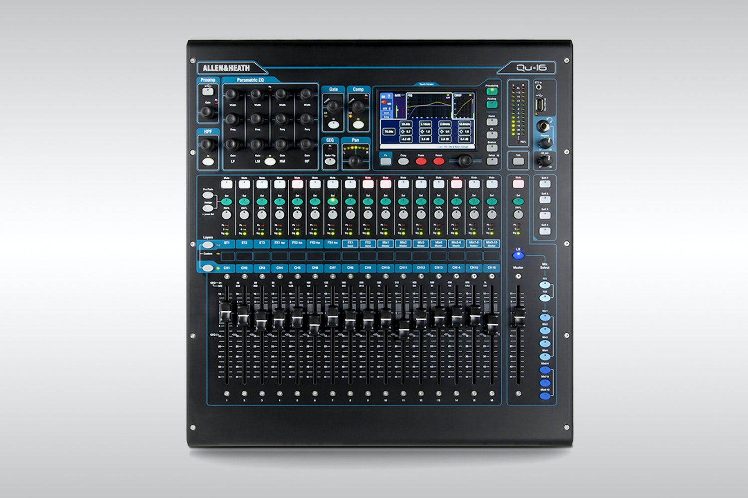 Allen & Heath QU-16 Digital Mixer Bundle