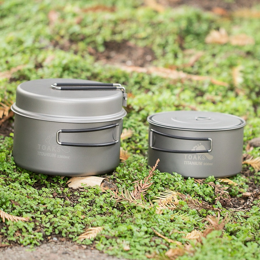 Toaks Titanium 900ml and 1350ml Pot Set