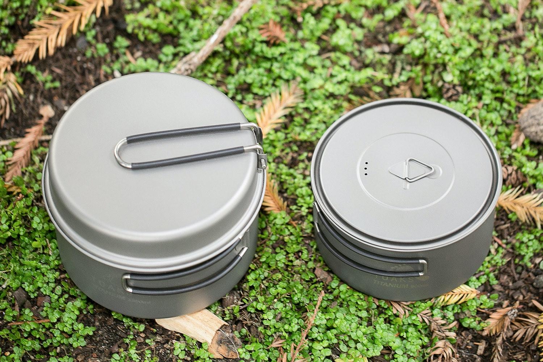 Toaks Titanium 900ml and 1350ml Pot Set